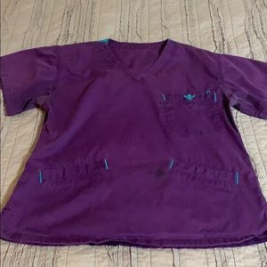 Purple med couture scrubs